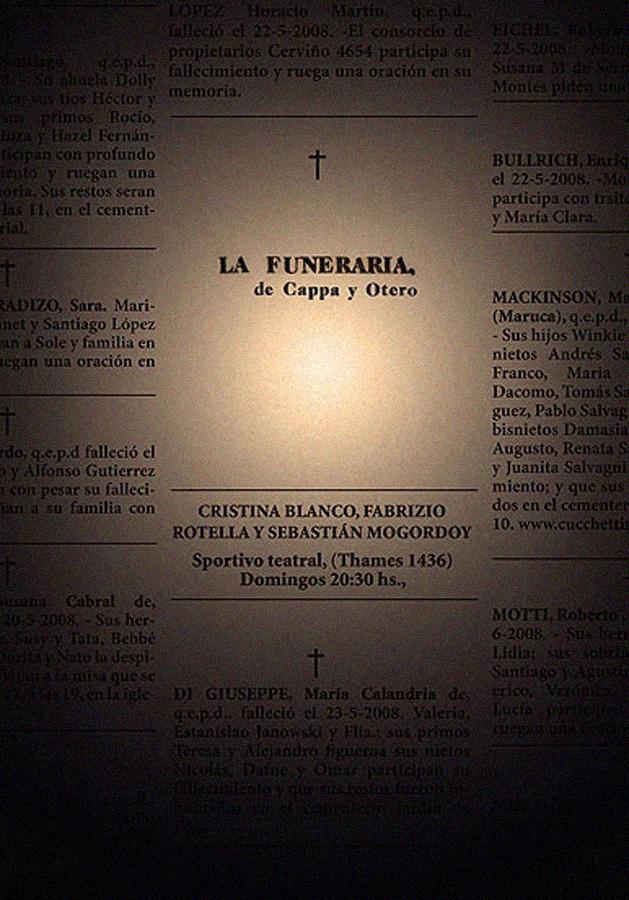 Candelaria Ochoa - La funeraria -2008
