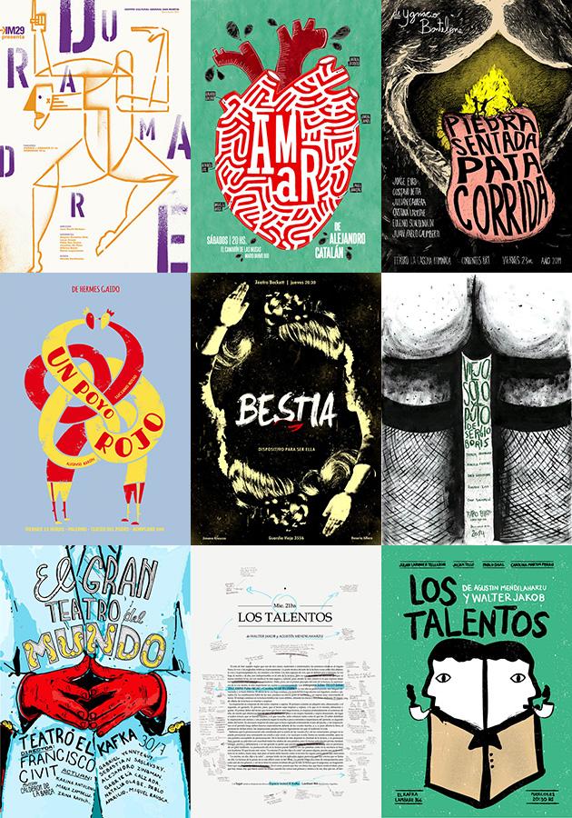 Afiches de Teatro 2014