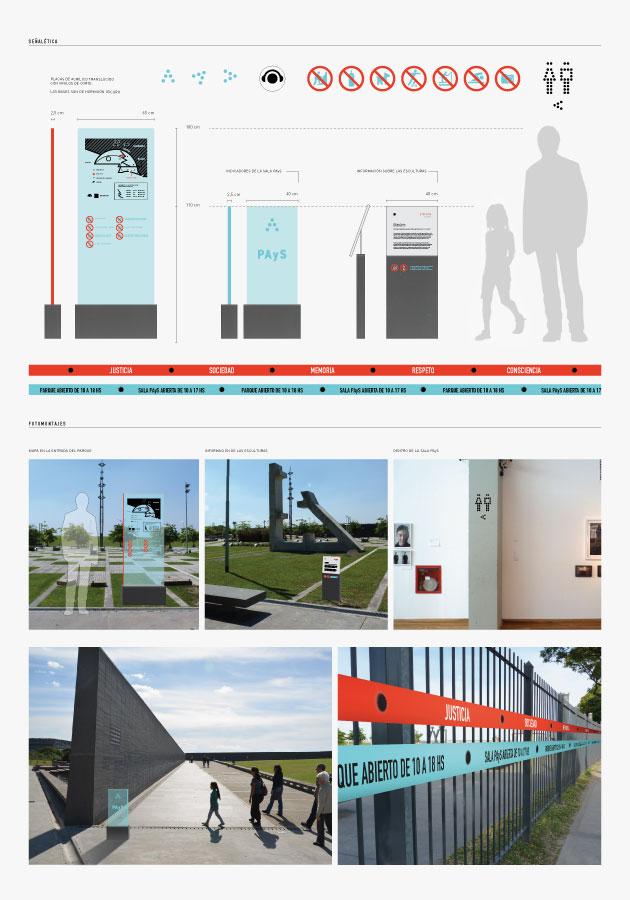 Santiago Invernizzini - Parque de la Memoria - Panel Señalética
