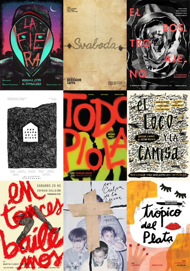Afiches de Teatro 2015